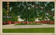 Chat-N-Rest Motel US 301 Turbeville South Carolina SC Postcard A17