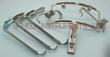 OR Grade Dingman Mouth Gag With 3 Tongue Blades ENT Surgical Instruments