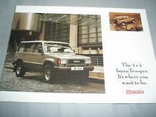 Isuzu Trooper range brochure Aug 1990 + price list