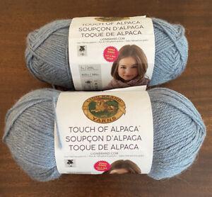 Lion Brand Yarn: Touch of Alpaca 1 plus 1/2 skein 108 dusty blue size 4- medium