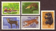Russia 1970 Fauna Animals from Sikhote-Alin Reserve Scott 3759-3763 MNH