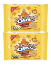Set 2 OREO Golden Sandwich Cookie Limited Edition MAPLE FLAVOR CREME 12.2 Oz