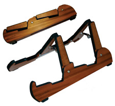 Cooperstand CS4 Pro Tandem Double Wooden Guitar Stand, Electric, Acoustic, Bass