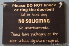 No Soliciting Door Sign by Saucy Signs - Warning Welcome Do Not Knock