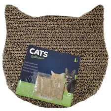 Cat Shape Corrugated Cardboard Scratch Pad Cat Scratching Toy New