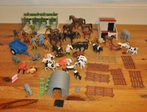 Britains Farm Milking Parlour Pig Sty & Pen Trailer Farmers Animals Fences Toys