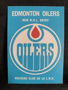 1979-80 O-Pee-Chee Hockey Edmonton Oilers Team Checklist Card #82