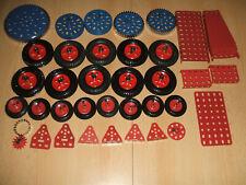 Märklin Metallbaukasten  verschiedene blaue  + rote Teile  Pulver beschichtet