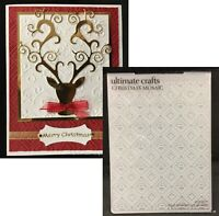 Ultimate Crafts Folders Sakura Snowfall Flowers Embossing Folder