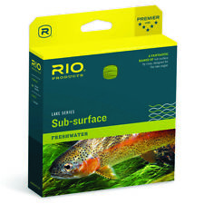 Rio Sub Surface Aqualux II Fly Line Clear/Trans Green - ALL SIZES - FREE SHIP