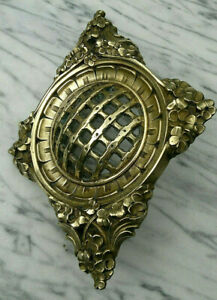 "c1900 Antique French Art Nouveau Gilt Bronze Door Peephole Speakeasy 10"" by 8"""