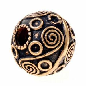 Wikinger-Perle Nr. B9 - Perle Bartperle Haarperle Haarschmuck Wikinger 4 mm Loch