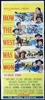 HOW THE WEST WAS WON Original daybill movie poster John Wayne James Stewart