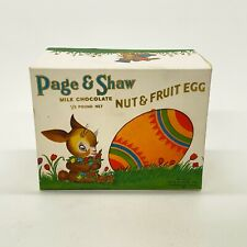 Vintage Page & Shaw Easter Nut & Fruit Egg Paperboard Candy Box