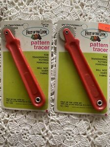2 VINTAGE PATTERN TRACER TRACING WHEEL NEW IN PACKAGE