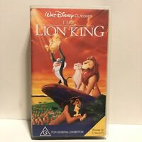 Walt Disney Classics The Lion King VHS Video Tape Rated G