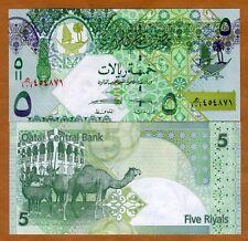 Qatar, 5 Riyals, ND (2008), New 2015 Signature, P-28-New, UNC > Camels