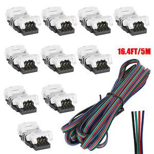 4-PIN RGB Extension Wire Cable Cord Connector For 5050/5630 RGB LED Strip Light