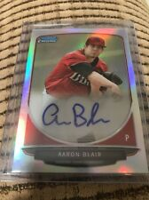 2013 BOWMAN CHROME AARON BLAIR RC REFRACTOR AUTO ROOKIE AUTOGRAPH BRAVES
