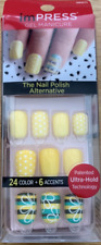 imPRESS 30 press on false nails in yellow & alternative feature nails 56971