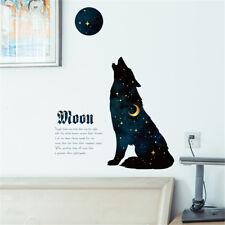 Night Sky Wolf Moon Hoom Room Decor Removable Wall Sticker Decal Wandtattoo