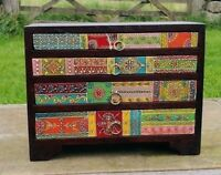 Hand Painted Small Chest of drawers, Fair Trade, Mango Wood, Made in India