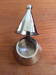 Tea Light Holder/snuffer, Metal With Hinge