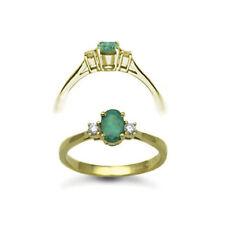 Emerald Yellow Gold Fine Diamond Rings