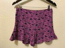 Umgee Junior M Bright Pink Navy Blue High Waist Flutter Shorts