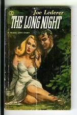 THE LONG NIGHT by Lederer, rare Canada Derby #6 sleaze noir gga pulp vintage pb