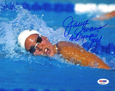 Janet Evans SIGNED 8x10 Photo + 4 x Olympic Gold Swimmer ITP PSA/DNA AUTOGRAPHED
