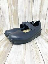 Wolky Women's Mary Jane Wedge Comfort Shoes Blue leather Size 42 (10.5-11)