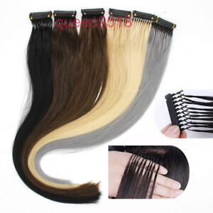 """6D Pre-bonded Remy Human Hair Extensions Straight 20"""" 0.5g/s 20gram 40Strands"""