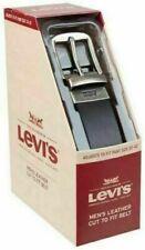 New LEVI'S Men's Leather Cut-to-Fit Belt Fits Pant Size 32-42 Black