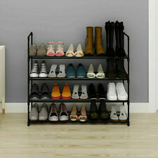 4-Tier Shoe Rack Shoe Tower Shelf Storage Organizer Cabinet Holds 16 Pairs USA