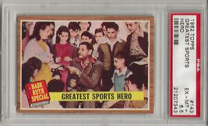 1962 TOPPS #143 BABE RUTH, PSA 6.5 EX-MT+,GREATEST SPORTS HERO, NEW YORK YANKEES