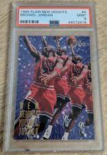 Michael Jordan 1995-96 Flair New Heights #4 PSA 9 MINT Build Red Jersey 4 of 10
