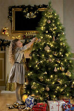 Luxury 8ft Christmas Tree 240cm Green Long Needle Pine  NO LIGHTS