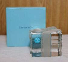 Tiffany & Co. Crystal Paperweight Present Box Original Packaging.