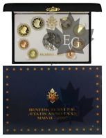 VATICAN EURO SET PROOF SERIE BE (BELLE EPREUVE) 2007