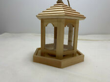 Wooden Birdhouse with Rope Hanger Unfinished  8.5 x 7.5 x 6 plexiglass walls