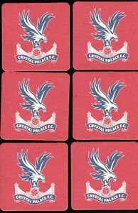 CRYSTAL PALACE F.C. Official Pack of Crested Beer Mats/Coasters FREE POST UK Red