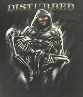 Disturbed MMVIII 2008 Concert Tour T-Shirt, Black, Size Large, Metal