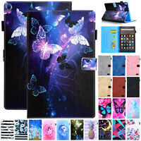 For Amazon Kindle Fire HD 8 2018 2017 Tablet Magnetic Leather Wallet Case Cover