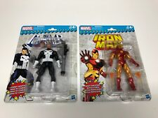 New Lot Of Two (2) Marvel Legends Vintage Series Punisher & Iron Man Figures
