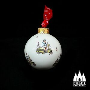 AWOL: Lambretta, Vespa, Quadrophena inspired bone China Bauble By Foley Pottery