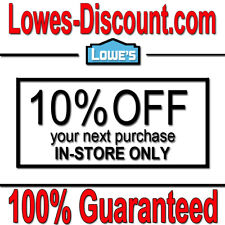 Lowe S Coupons For Sale Ebay