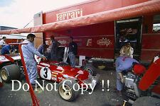 Ferrari F1 área de garaje francés Grand Prix 1972 fotografía 1