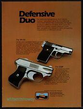 1981 TP-70 and The Cop 4-barrel Pistol PRINT AD M&N Gun Advertising