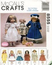 McCall's Doll Clothes Package Pattern 8555 Size 18